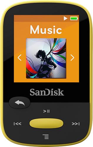 SanDisk - Clip Sport 8GB* MP3 Player - Yellow