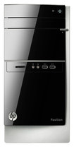 HP - Pavilion Desktop - Intel Core i3 - 4GB Memory - 1TB Hard Drive - Black/Silver