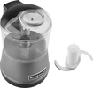KitchenAid - 3-1/2-Cup Food Chopper - Contour Silver