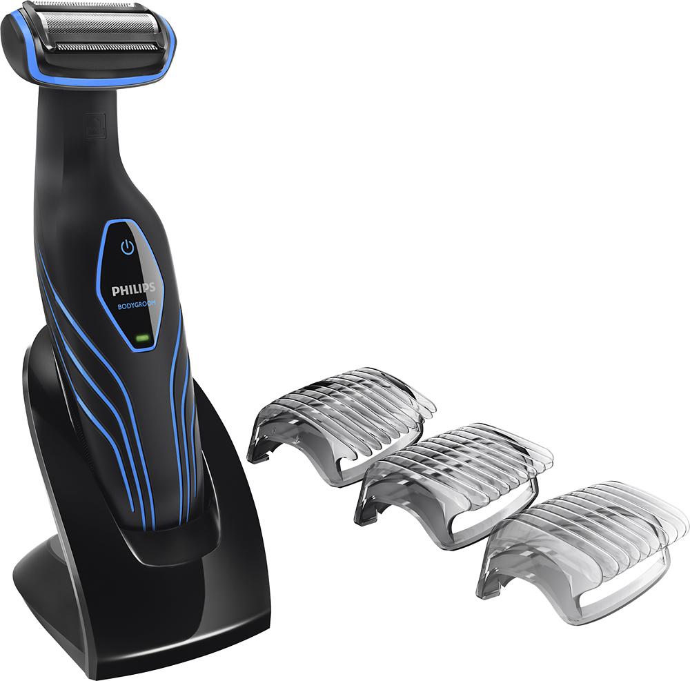Philips Norelco - Bodygroom 3100 Wet/Dry Body Groomer - Black/Blue