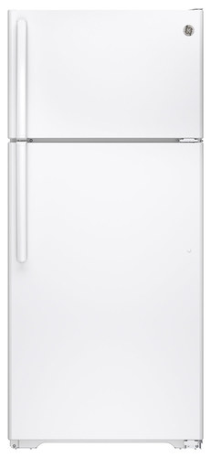 GE - 15.5 Cu. Ft. Frost-Free Top-Freezer Refrigerator - White