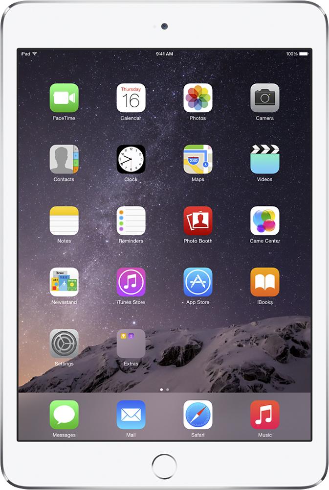 Apple® - iPad mini 3 Wi-Fi + Cellular 16GB - Silver