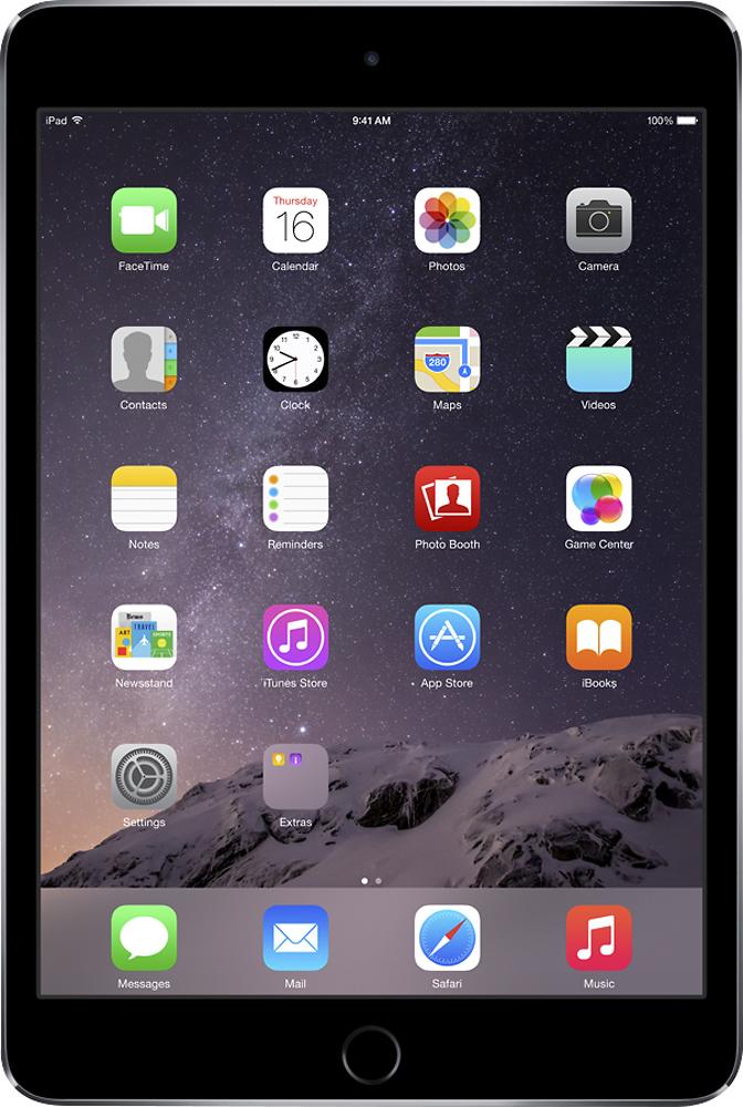 Apple - iPad mini 3 Wi-Fi + Cellular 128GB - Space Gray