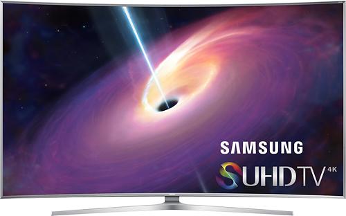 "Samsung 65"" Class (64.5"" Diag.) LED Curved 2160p Smart 3D 4K Ultra HD TV Silver UN65JS9500FXZA"