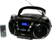 Jensen - Portable CD Player with AM/FM Stereo and MP3 Encoder/Player - Black