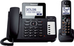 Panasonic - DECT 6.0 Plus Expandable Cordless Phone System with Digital Answering System - Black