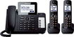 Panasonic - DECT 6.0 Plus Expandable Cordless Phone System with Digital Answering System - Titanium black