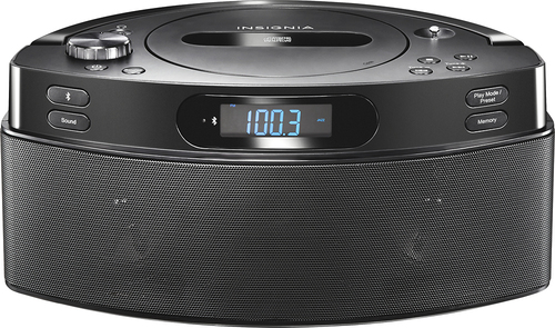 Insignia™ - CD Boombox with AM/FM Radio - Black