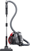 Samsung - Bagless Canister Vacuum - Vitality Red