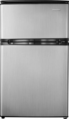 Insignia™ - 3.0 Cu. Ft. Compact Refrigerator - Fingerprint Free Stainless Look