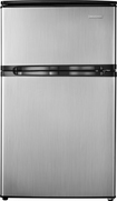 Insignia - 3.0 Cu. Ft. Compact Refrigerator - Stainless-Steel