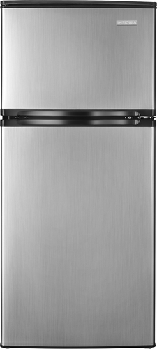 Insignia™ - 4.3 Cu. Ft. Compact Refrigerator - Stainless-Steel