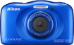 Nikon - Coolpix S33 13.2-megapixel Waterproof Digital Camera - Blue