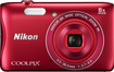 Nikon - Coolpix S3700 20.1-Megapixel Digital Camera - Red