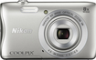 Nikon - Coolpix S3700 20.1-Megapixel Digital Camera - Silver