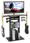 "Atlantic - Game Central TV Stand for Flat-Panel TVs Up to 32"" - Black"
