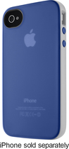 Belkin - Grip Candy Case for Apple® iPhone® 4 and iPhone 4S - Blue/White