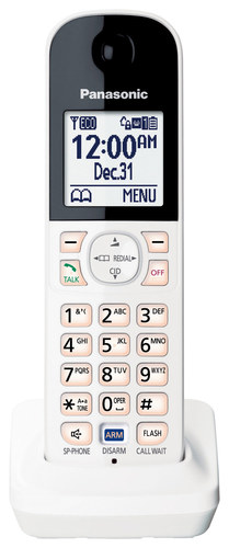 Panasonic - Add-On Digital Cordless Handset for KX-HNB600 Hub Unit - White/Black