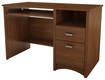 South Shore - Gascony Collection Computer Desk with Slide-Out Keyboard Shelf - Sumptuous Cherry