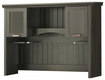 South Shore - Gascony Collection Computer Desk Hutch - Ebony/Spice Wood