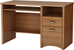 South Shore - Gascony Collection Computer Desk with Slide-Out Keyboard Shelf - Morgan Cherry