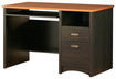 South Shore - Gascony Collection Computer Desk with Slide-Out Keyboard Shelf - Ebony/Spice Wood