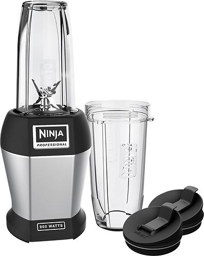 Ninja - Nutri Ninja Pro 24-Oz. Blender - Black/Silver