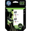HP - 61 2-Pack Ink Cartridges - Cyan/Magenta/Yellow
