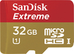 SanDisk - Extreme 32GB microSDHC Class 10 UHS-1 Memory Card - Red/Gold