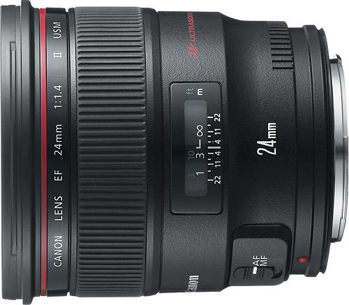 Canon - EF 24mm f/1.4L II USM Wide-Angle Lens - Black