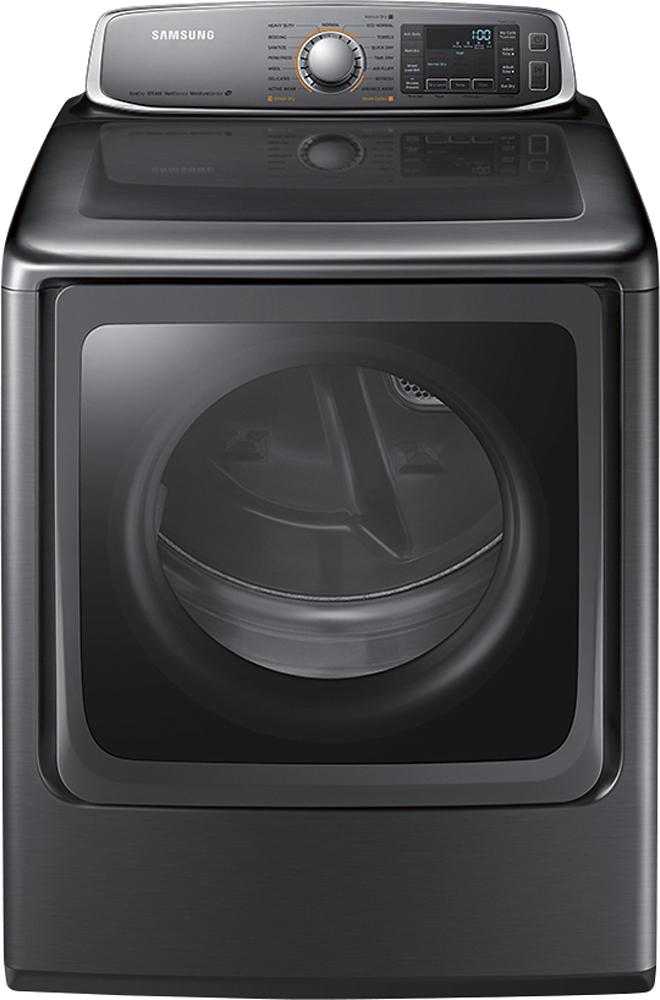 Samsung - 9.5 Cu. Ft. 15-Cycle Steam Electric Dryer - Platinum