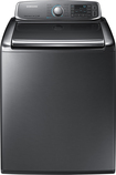 Samsung - 5.6 Cu. Ft. 15-Cycle High-Efficiency Steam Top-Loading Washer - Platinum