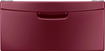 Samsung - Washer/dryer Laundry Pedestal With Storage Drawer - Merlot Red