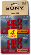 Sony - Hi8 Metal-Particle Videotapes (4-pack)