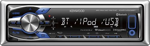 Kenwood - Built-In Bluetooth - Apple® iPod®-Ready - Satellite Radio-Ready - In-Dash Receiver - Silver/Black