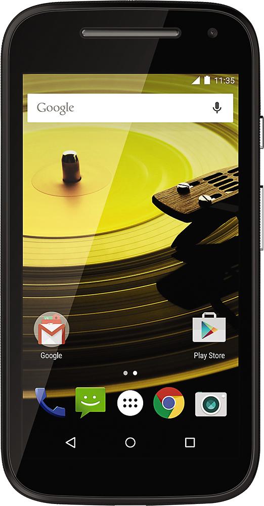 Motorola - Moto E (2nd Gen) UMTS with 8GB Memory Cell Phone (Unlocked) - Black