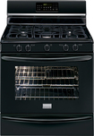 "Frigidaire - Gallery 30"" Self-Cleaning Freestanding Gas Convection Range - Black"