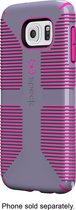 Speck - Candyshell Grip Case for Samsung Galaxy S 6 Cell Phones - Purple/Pink