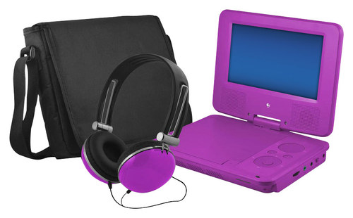 Ematic - 7 Portable DVD Player with Swivel Screen - Purple