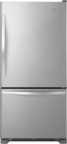 Whirlpool - 21.9 Cu. Ft. Bottom-Freezer Refrigerator - Stainless-Steel