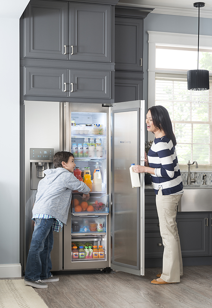 Samsung 215 Cu Ft Side By Side Counter Depth Refrigerator With