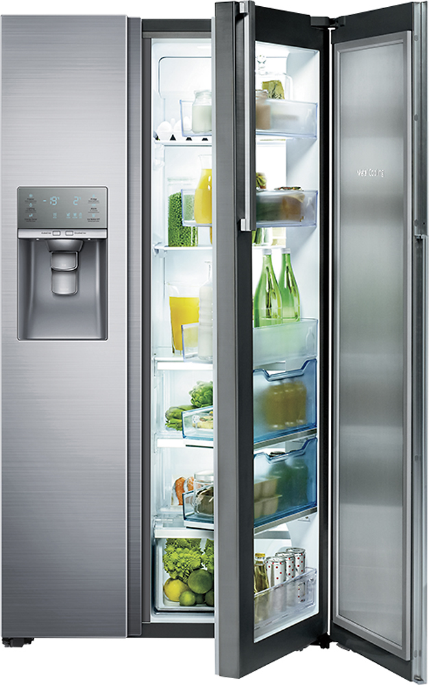 Ft. Counter Depth Side By Side Refrigerator With Thru The Door Ice And Water    Stainless Steel At Pacific Sales