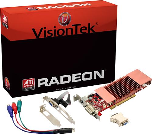 VisionTek - ATI Radeon HD 3450 512MB DDR2 PCI Graphics Card - Multi