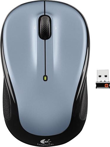 Logitech - M325 Wireless Optical Mouse - Light Silver