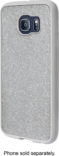Insignia™ - Case for Samsung Galaxy S6 Cell Phones - Glitter Silver