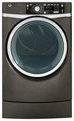 GE - RightHeight 8.3 Cu. Ft. 12-Cycle Steam Gas Dryer - Metallic Carbon