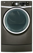 GE - RightHeight 8.3 Cu. Ft. 12-Cycle Steam Electric Dryer - Metallic Carbon