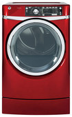 GE - RightHeight 8.3 Cu. Ft. 12-Cycle Steam Electric Dryer - Ruby Red