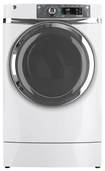 GE - RightHeight 8.3 Cu. Ft. 12-Cycle Steam Electric Dryer - White