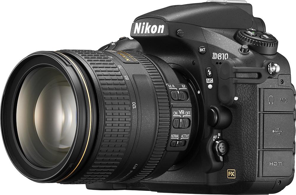 Nikon - D810 DSLR Camera with AF-S NIKKOR 24-120mm f/4G ED VR Zoom Lens - Black